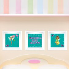 3 Piece Fairy Picture Frame Wall Decal