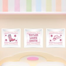 3 Piece Cowgirl Picture Frame Wall Decal