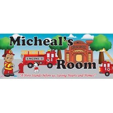 Fireman Boy Name Wall Decal