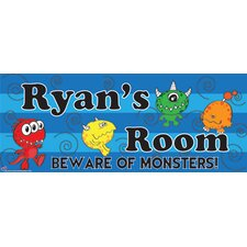 Monster Boy Name Wall Decal