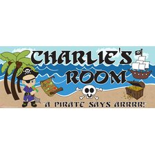 Pirate Boy Name Wall Decal