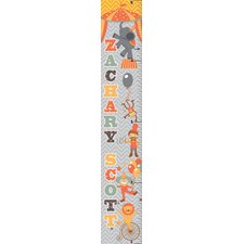 Retro Circus Boy Personalized Growth Chart