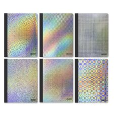 College Rule 100 Ct. Holographic Composition Book