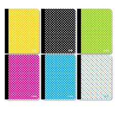 College Rule 100 Ct. Polka Dot Composition Book