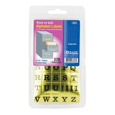 378 Ct. Gold Foil Alphabet Labels