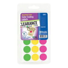 360 Ct. Round Colored Labels
