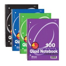 Quad-Ruled Spiral Notebook (Set of 24)