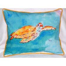 Sea Turtle Outdoor Lumbar Pillow