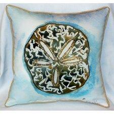 Coastal Sand Dollar Indoor/Outdoor Throw Pillow