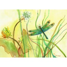 Garden Dragonfly Graphic Art on Wrapped Canvas