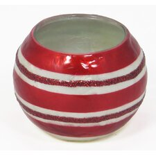 Stripes Capiz Shell and Glass Votive