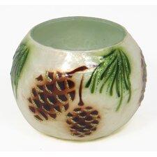 Pine Cone Capiz Shell and Glass Votive