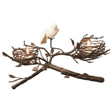 2-Nest with Fine Bone China Bird Tealight Centerpiece