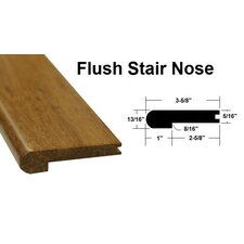"""0.81"""" x 3.63"""" x 72.75"""" Bamboo Flush Stair Nose in Reddish Brown"""