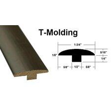 """0.56"""" x 1.75"""" x 78.75"""" Oak T-Molding in Brown"""