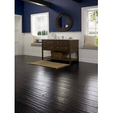 "Sable 3-47/50"" Engineered Bamboo Hardwood Flooring in Black"