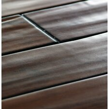 "5.24"" Walnut Hand-scraped 12mm Engineered Strand Bamboo Flooring"