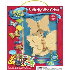 Works of Ahhh Butterfly Wind Chime Wood Paint Kit