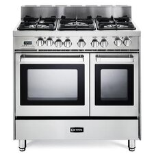 2.4 Cu. Ft Dual Fuel Convection Range in Stainless Steel