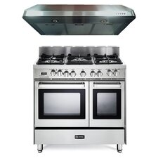 2.4 Cu. Ft. Dual Fuel Convection Range in Stainless Steel
