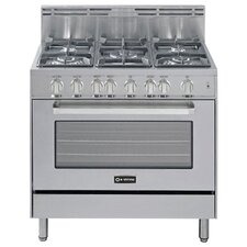 3 Cu. Ft Gas Convection Range in Stainless Steel