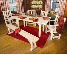 Solid Top Cedar Dining Table