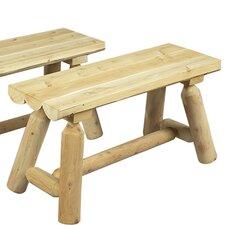 36'' Cedar Wood Picnic Bench (Set of 2)