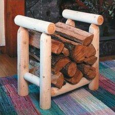 Log Style Cedar Firewood Rack