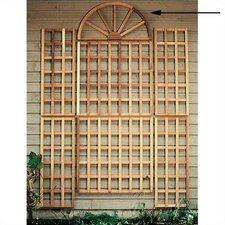Cedar English Wall Trellis Top Piece