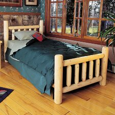 Rustic Cedar Log Panel Bed