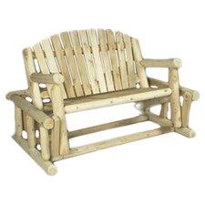 Cedar Log Style Wood Garden Bench