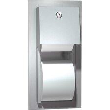Recessed Dual Roll Toilet Tissue Dispenser
