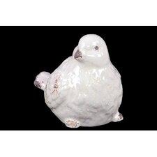 Stoneware Child with Skirt Up Bird Feeder  LG Matte Tan