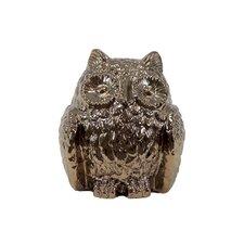 Ceramic Owl Decor Metallic Gold
