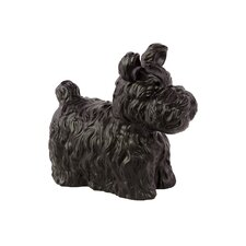 Ceramic Scottish Terrier Dog Matte Black