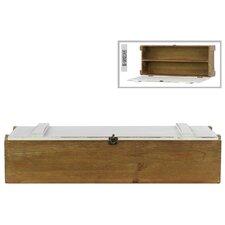 Wooden Lock Box with Divider Natural Wood Finish