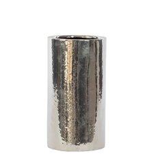 Ceramic Vase LG Chrome Silver