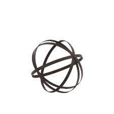 Metal Orb Dyson Sphere Design Decor Grey (5 circles)