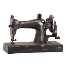 Resin Vintage 1913 Singer Model 66 Hand Crank Sewing Machine Replica Decor Matte Black