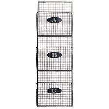 Metal Mail Organizer Mesh Design with 3 Lettered Tiers