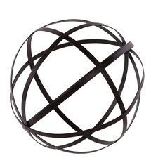 Metal Orb Dyson Sphere Design Decor