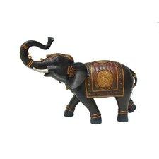 Resin Elephant Figurine with Blanket