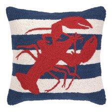 Nautical Hook lobster Stripe Throw Pillow