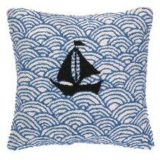 Nautical Hook Sailing on the Sea Throw Pillow