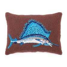 Nautical Hook Sail Fish Lumbar Pillow