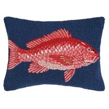Nautical Hook Snapper Throw Pillow
