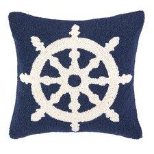 Nautical Hook Helm Wool Throw Pillow