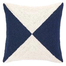Nautical Hook Flag Throw Pillow