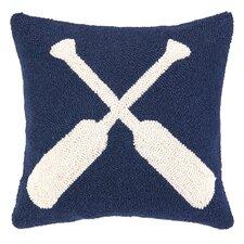 Nautical Hook Oars Throw Pillow