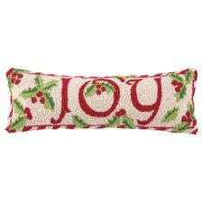 Winterberry Joy Hook Wool Throw Pillow